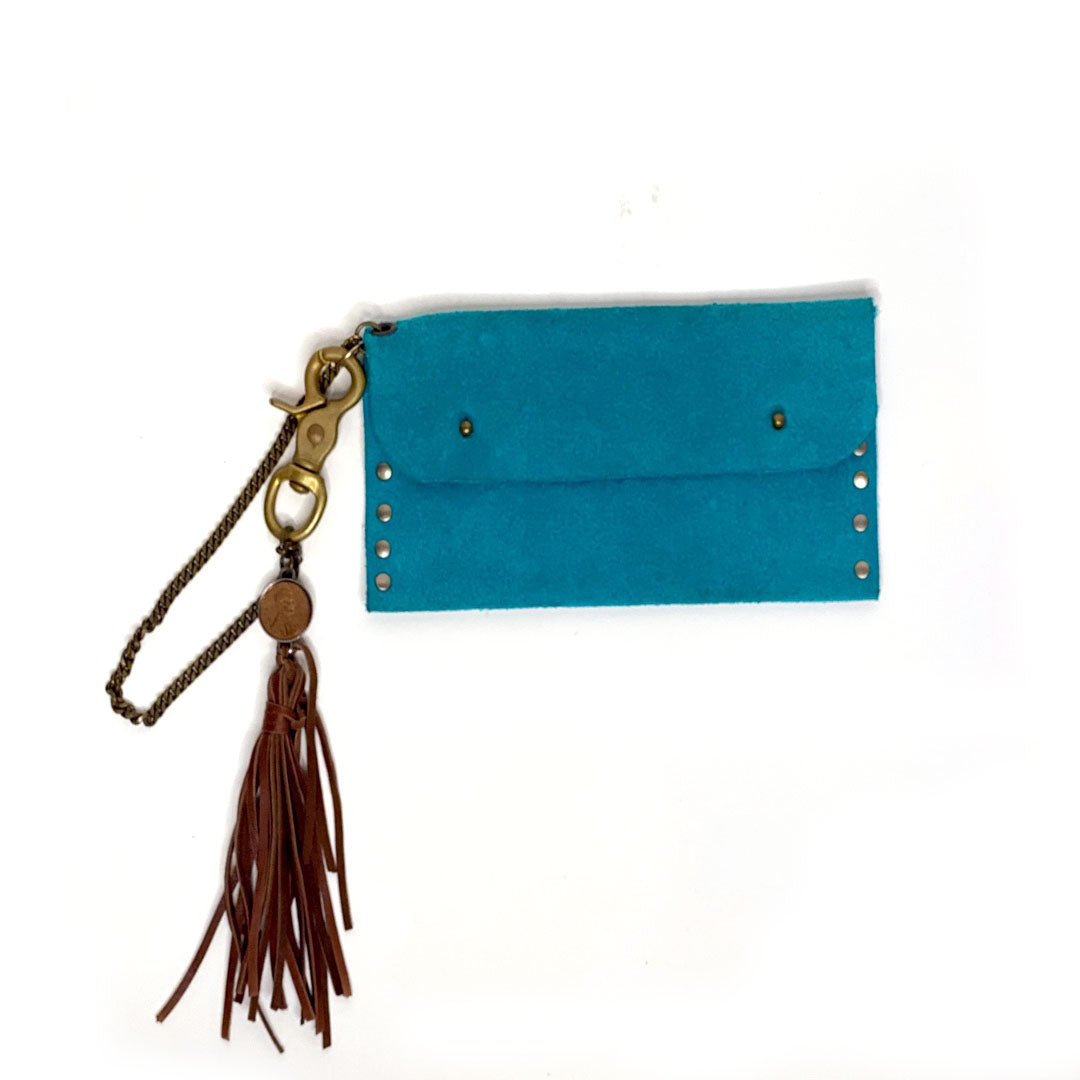 Biker Wallet with Leather Tassel