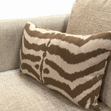 Zebra Mocha Outdoor PIllow