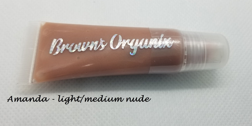 Brown's Organix vegan and gluten free lip gloss will moisturize your lips with luxurious emollients while providing a beautiful shine with just a kiss of color.