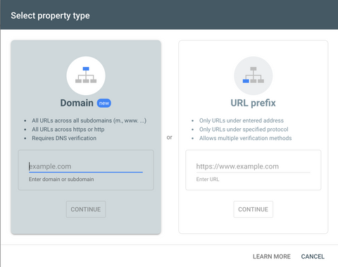 Google search console property verification type - threadhub t shirts for developers