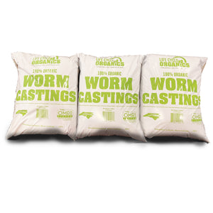 3 Pack of Life Cycle Organics 1 Gallon Worm Castings