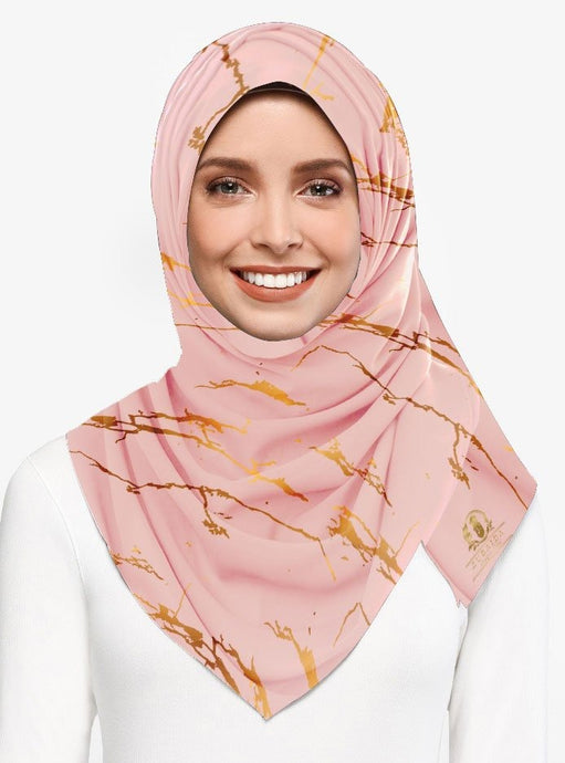 Marble Luxx Hijab- Dusty Pink | Best Hijab Online Singapore