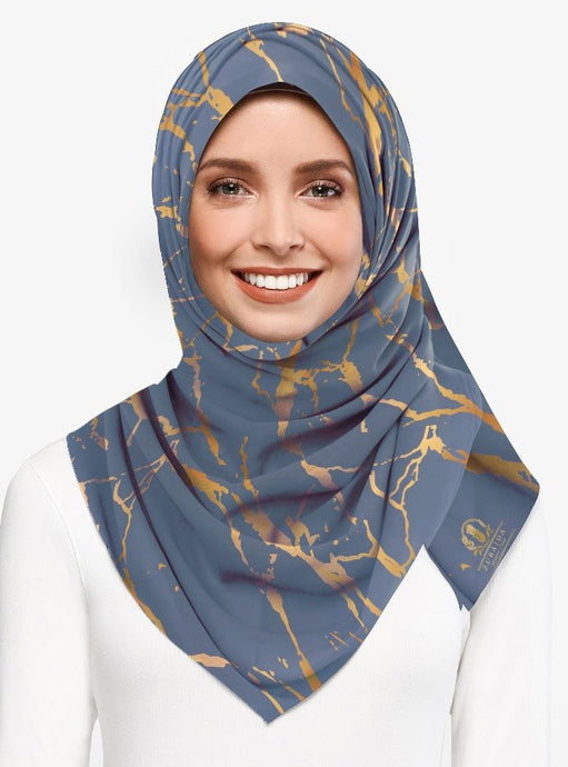 Marble Luxx Hijab- Steel Grey  | Best Hijab Online Singapore