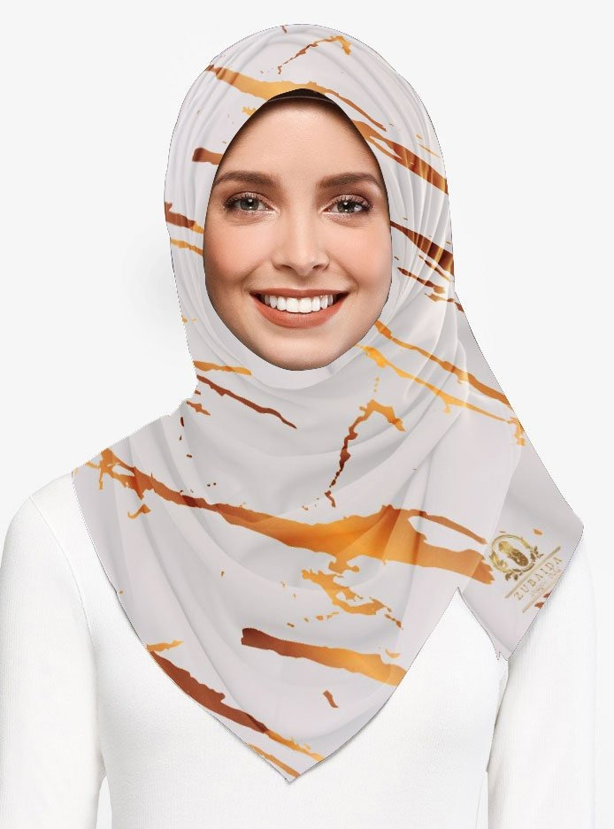 Marble Luxx Hijab- Pastel Grey | Best Hijab Online Singapore