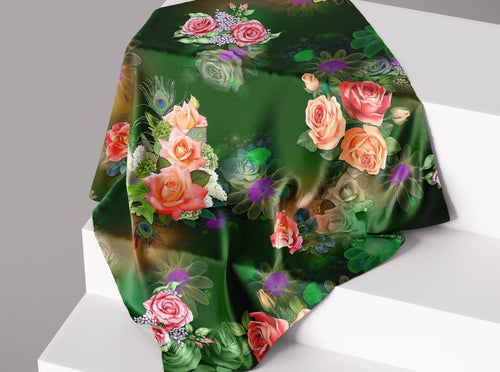 The Secret Garden- Emerald | Dull Satin Hijab Singapore | Best Online Muslimah Tudung Fashion