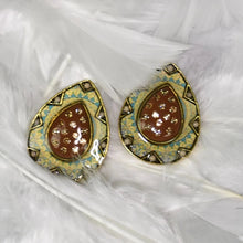 Load image into Gallery viewer, Studded Handmade Nickel Free Earrings- Green