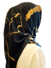 Load image into Gallery viewer, Marble Luxx Hijab- Black | Best Hijab Online Singapore