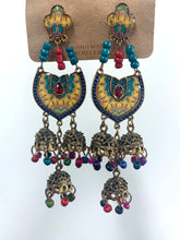 Load image into Gallery viewer, Jumka Handmade Nickel Free Earrings- Rainbow