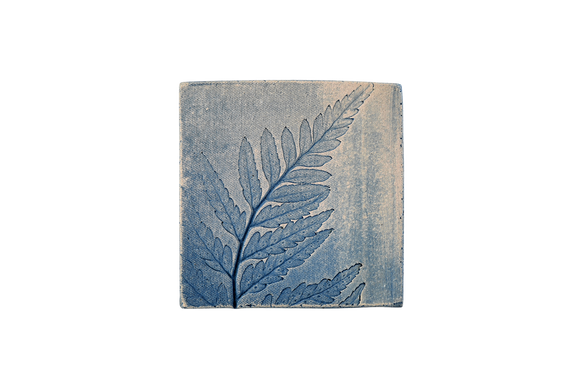 Outdoor Tile Blue Fern 1