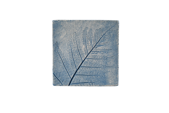 Outdoor Tile Blue Fern 2