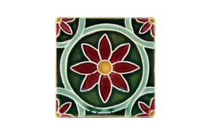 Art Nouveau Dark Green Daisy Large