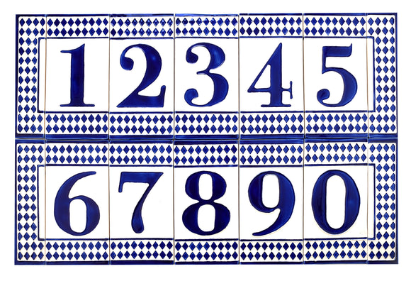 Blue Diamond House Number