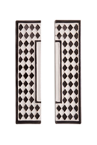 Grey Diamond House Number Side Pair