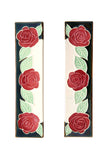 Maroon Rose House Number Side Pair
