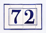 Blue Line House Number Side Pair