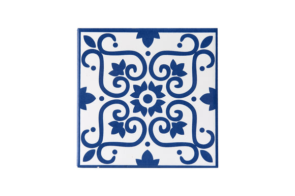 Wall Tile Blue Pattern 8 Large