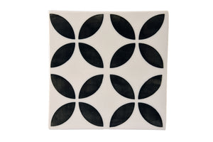Geometric Pattern Four Flower Large