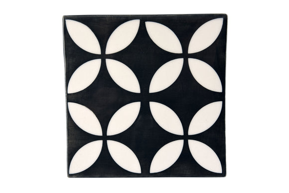 Geometric Pattern Four Flower Inverse Large