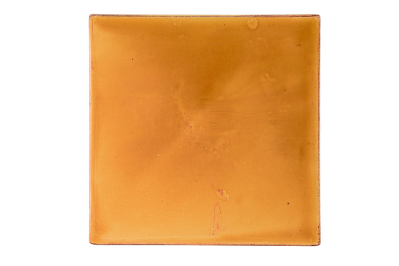 Art Nouveau Yellow Plain Tile XL