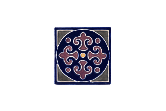 Art Nouveau Navy King Circle Mini