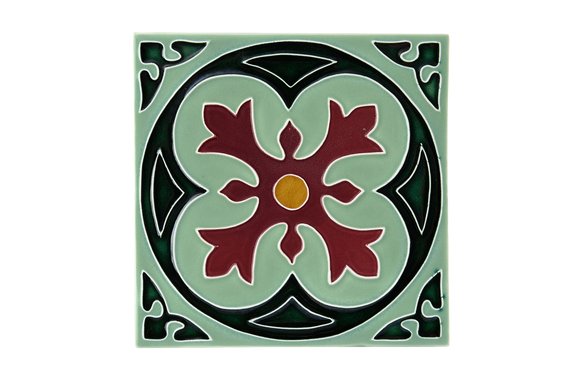 Art Nouveau Mint Spin Flower XL