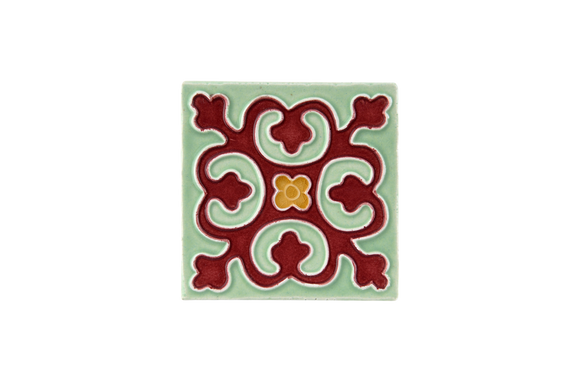 Art Nouveau Mint Geo Tile Mini