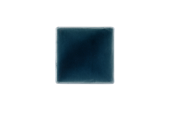 Art Nouveau Teal Plain Tile Mini