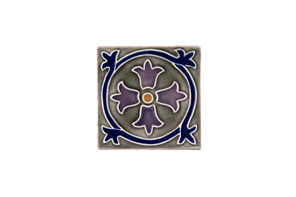 Art Nouveau Grey Royal Flower Mini