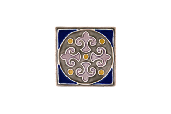 Art Nouveau Grey King Circle Navy Mini