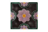 Art Nouveau Grey Flower Geo Circles XL