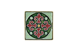 Art Nouveau Dark Green King Circle Mini