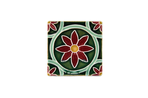 Art Nouveau Dark Green Daisy Mini