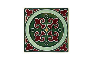 Art Nouveau Dark Green King Circle Large