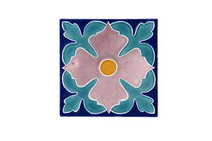Art Nouveau Navy Large Flower Large