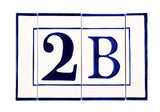 Blue Line House Number - Letter