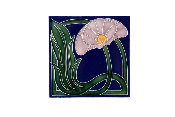 Art Nouveau Navy Lily Large