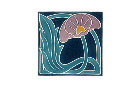 Art Nouveau Teal Lily Large