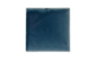 Art Nouveau Teal Plain Tile Large