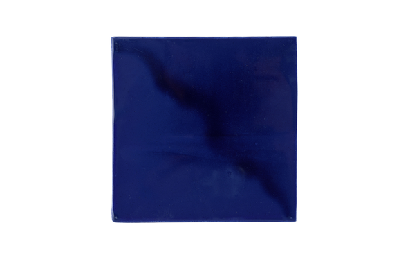 Art Nouveau Navy Plain Tile Large