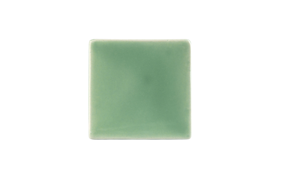 Art Nouveau Mint Plain Tile Mini