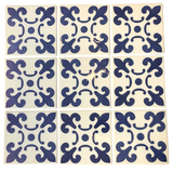 Pack of 10 x 100mmx100mm Geo Pattern Dark Blue Wall Tiles (on sale)