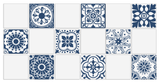 Wall Tile Blue Pattern 9 Large