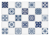 Wall Tile Blue Pattern 12 Small