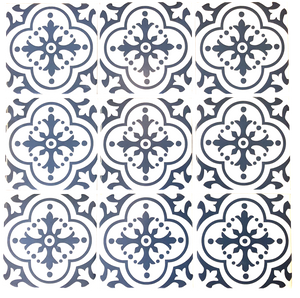 Blue Pattern Square Wall Tiles (on sale)