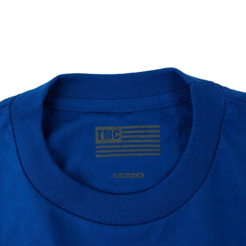 Crenshaw Kid's T-Shirt - Royal/Yellow-The Marathon Clothing
