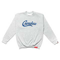 Crenshaw Kid's Crewneck - Heather Grey/Royal-The Marathon Clothing