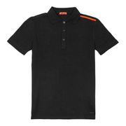 TMC Contrast Shoulder Polo Tee - Black/Red-The Marathon Clothing
