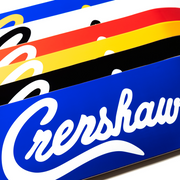 Crenshaw Skateboard Deck - Black/White-The Marathon Clothing
