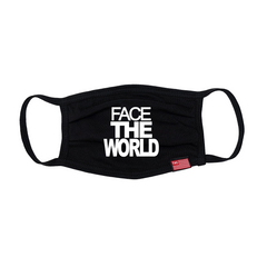 Face The World Face Mask - Black-The Marathon Clothing