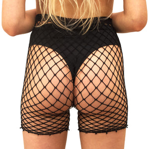 Techno Fishnet Shortz